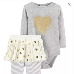 🎄 3 for $30 Carter's 9 Months Grey Tutu Outfit